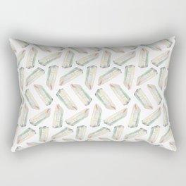 Illuminated Structure: Solo Angel Aura Quartz Rectangular Pillow