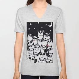 Lots of Panda Unisex V-Neck
