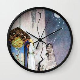 12,000pixel-500dpi - Kay Nielsen - Lassi Opens The Forbidden Open Door And Escapes The Moon Wall Clock