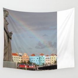 Rainbow over Willemstad Curaçao Wall Tapestry