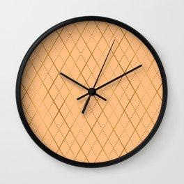 Argyle (Sand) Wall Clock