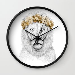 Festival lion (color version) Wall Clock