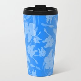 Forget-Me-Not Flowers in Blue Travel Mug