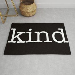be kind large print Rug