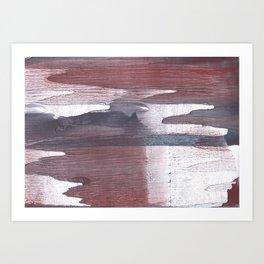 Gray claret wash drawing design Art Print