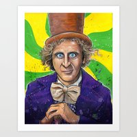 willy wonka Art Prints featuring WILLY WONKA! by CHRIS MASON
