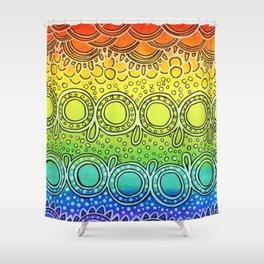Rainbow Doodle Shower Curtain
