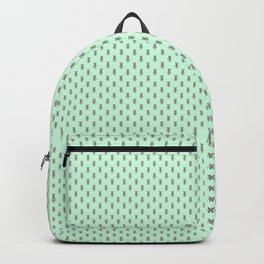 Badger Forest Friends All Over Repeat Pattern on Mint Green Backpack