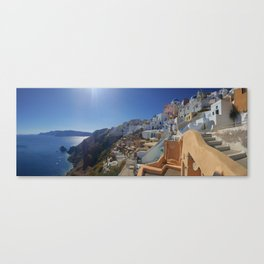 Santorini Oia panorama Canvas Print