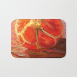 Satsuma orange segments Bath Mat