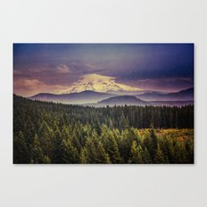 Mountains and Forest - Blue Mt. Hood Mountain Canvas Print