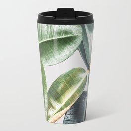 Tropical Leaves Green Lush Pattern | Lush Leaf Photography Travel Mug
