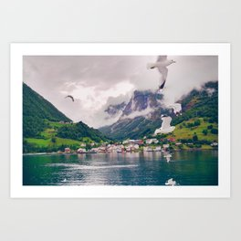 Wandering in Fjords Art Print