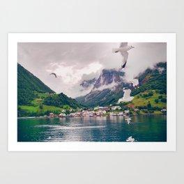 Wandering in Fjords Art Print