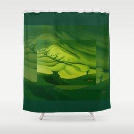 Green, Green ... Shower Curtain