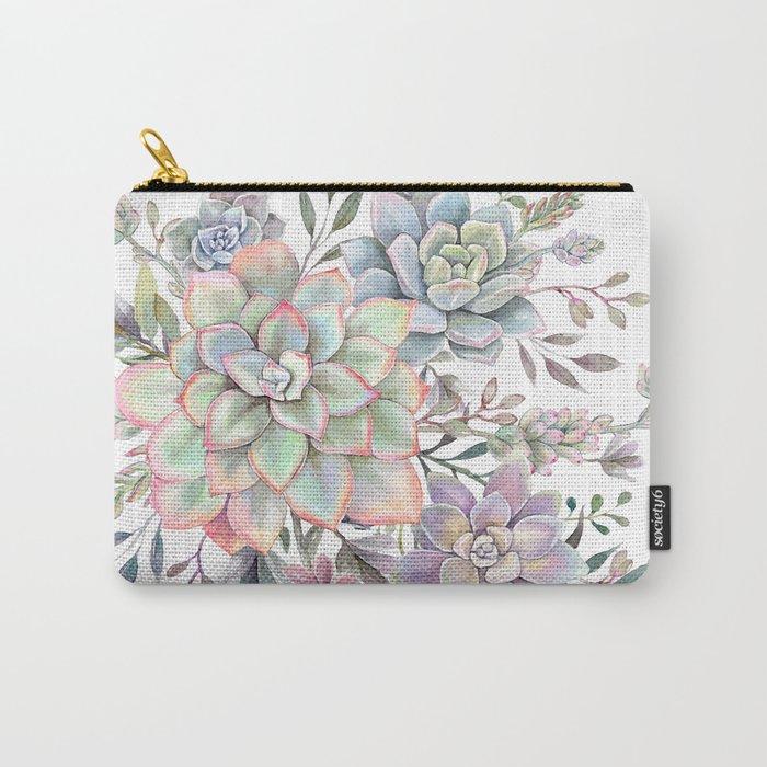 succulent watercolor 8 Tasche