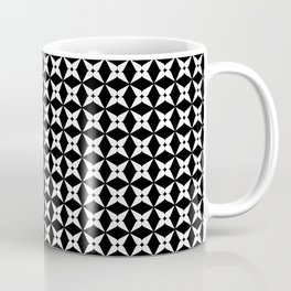 Geometric Pattern 247 (white crosses) Coffee Mug