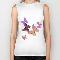 butterflies Biker Tanks featuring Butterflies by Judith Lee Folde Photography & Art