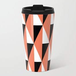 Geometric Pattern #78 (salmon pink triangles) Travel Mug