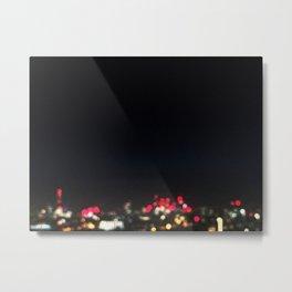 London Skyline Night Blur Metal Print