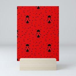 Ladybug Pattern Mini Art Print