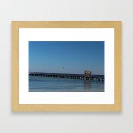 Bokeelia Pier Framed Art Print