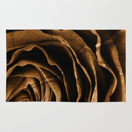 Sepia Grunge Rose Rug