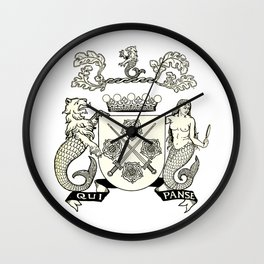 Heraldry Arms Medieval Wall Clock