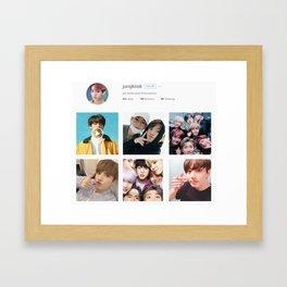 Jungkook - Instagram Framed Art Print