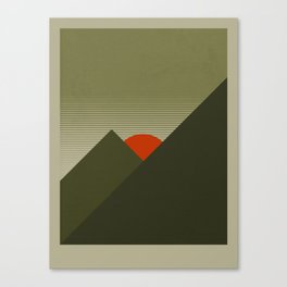Forest Mountain Canvas Print