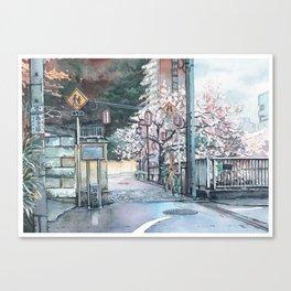 Corner Sakura Canvas Print