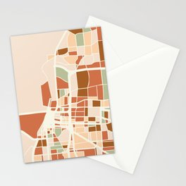 MEMPHIS TENNESSEE CITY MAP EARTH TONES Stationery Cards