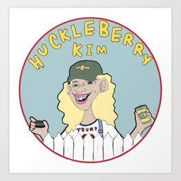 Huckelberry Kim Art Print