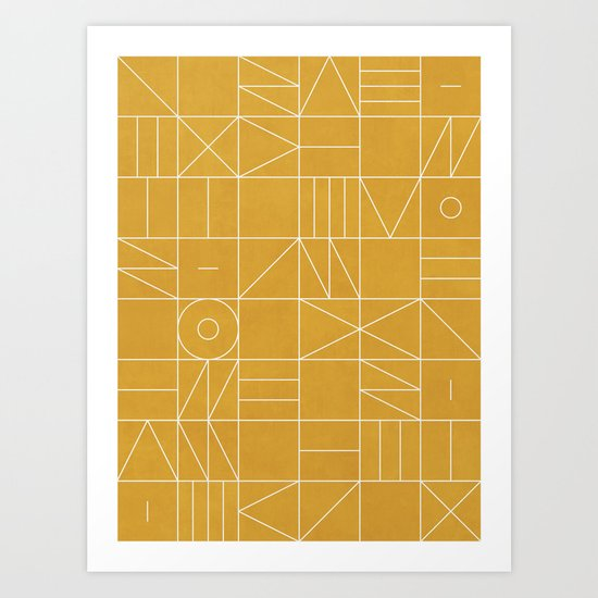 My Favorite Geometric Patterns No.4 - Mustard Yellow by zoltanratko