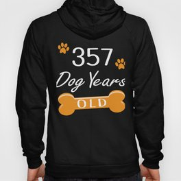 357 Dog Years Old Funny 51st Birthday Puppy Lover graphic Hoody