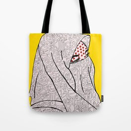 Roy Lichtenstein Meets the Arabic Woman Tote Bag