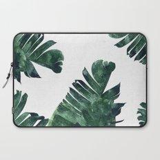 Banana Leaf Watercolor Pattern #society6 Laptop Sleeve