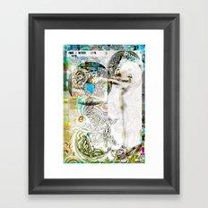 Fluttering Framed Art Print