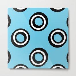 Round Circles Metal Print