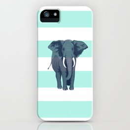 The Green Elephant iPhone Case