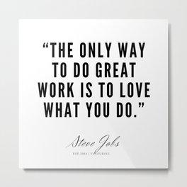 5      Steve Jobs Quotes   190720 Metal Print