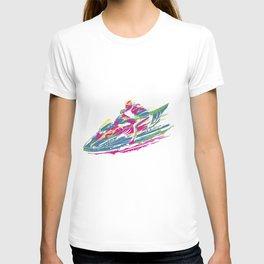 Jetski print T-shirt