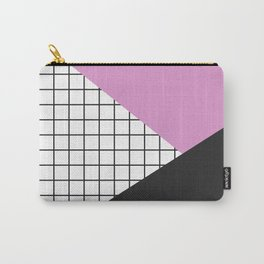 Geometry: black, pink and squres Carry-All Pouch