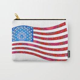 Patriotic Art - Mandala US Flag - United States of America Art - Sharon Cummings Carry-All Pouch