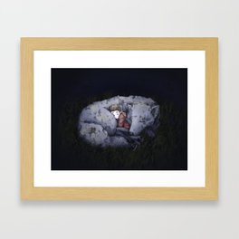 CuddleWolf Framed Art Print