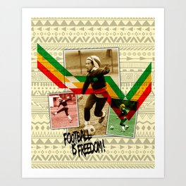 Football is freedom Art Print