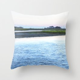 Early Evening at Chincoteague Bay Throw Pillow