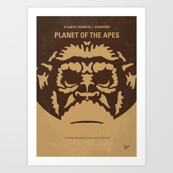 No270 My PLANET OF THE APES minimal movie poster Art Print