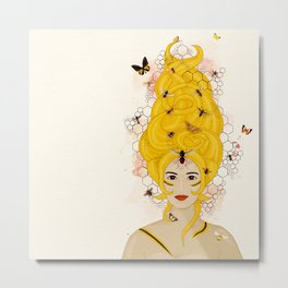 The Queen Bee Metal Print
