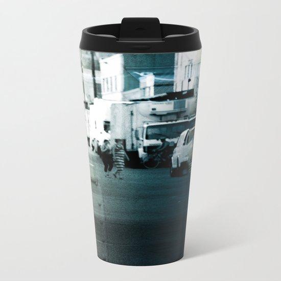 City Stripes Metal Travel Mug